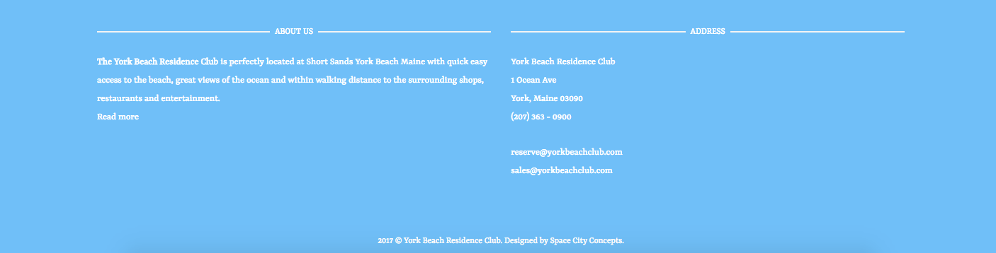 About York Beach Residence Club